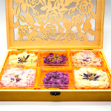 Organic Paeonia Mu Dan Hua Big Tree Peony Flower Tea in Wooden Box